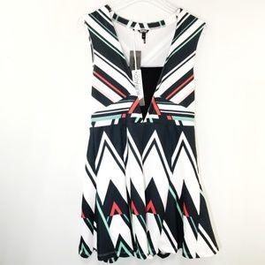 Buffalo David Bitton Sleeveless Striped Dress L